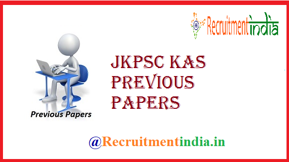 JKPSC KAS Previous Papers