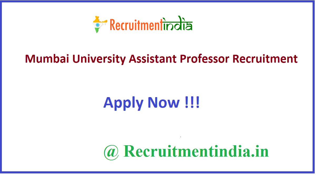 Mumbai University Assistant Professor Recruitment