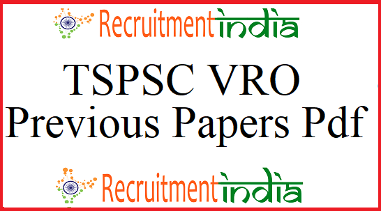 TSPSC VRO Previous Papers