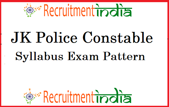 JK Police Constable Syllabus