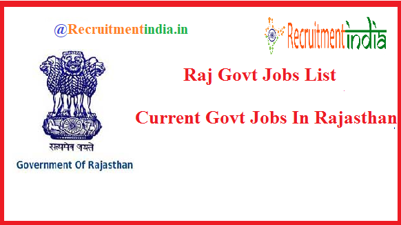 Govt Jobs In Rajasthan