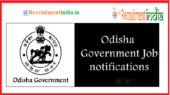 Govt Jobs In Odisha