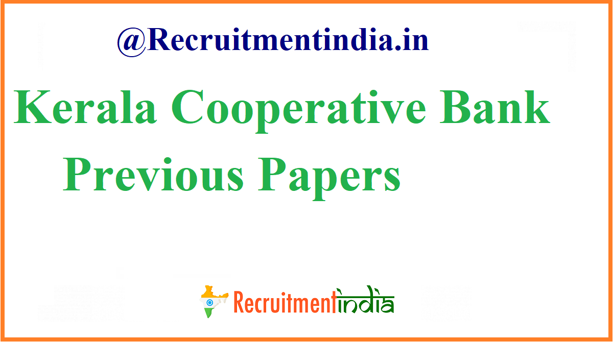 Kerala Cooperative Bank Previous Papers