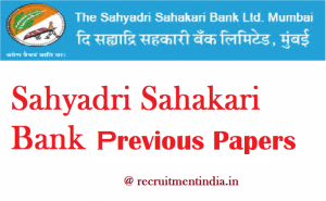 Sahyadri Sahakari Bank Clerk Previous Papers