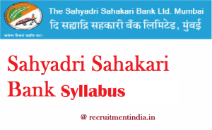 Sahyadri Sahakari Bank Clerk Syllabus 2018
