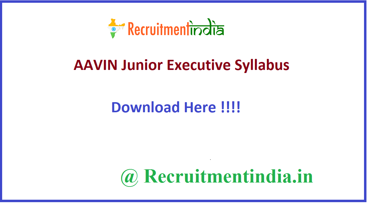 AAVIN Junior Executive Syllabus