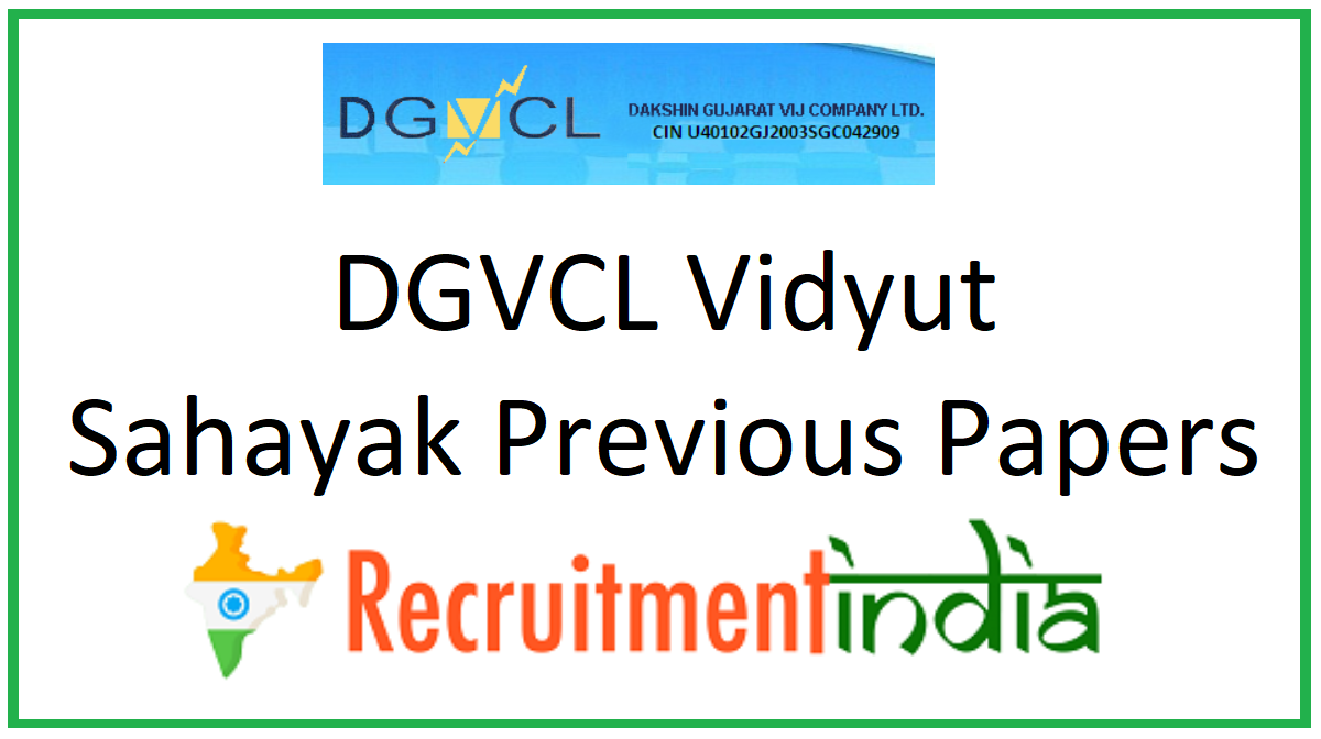 DGVCL Vidyut Sahayak Previous Papers