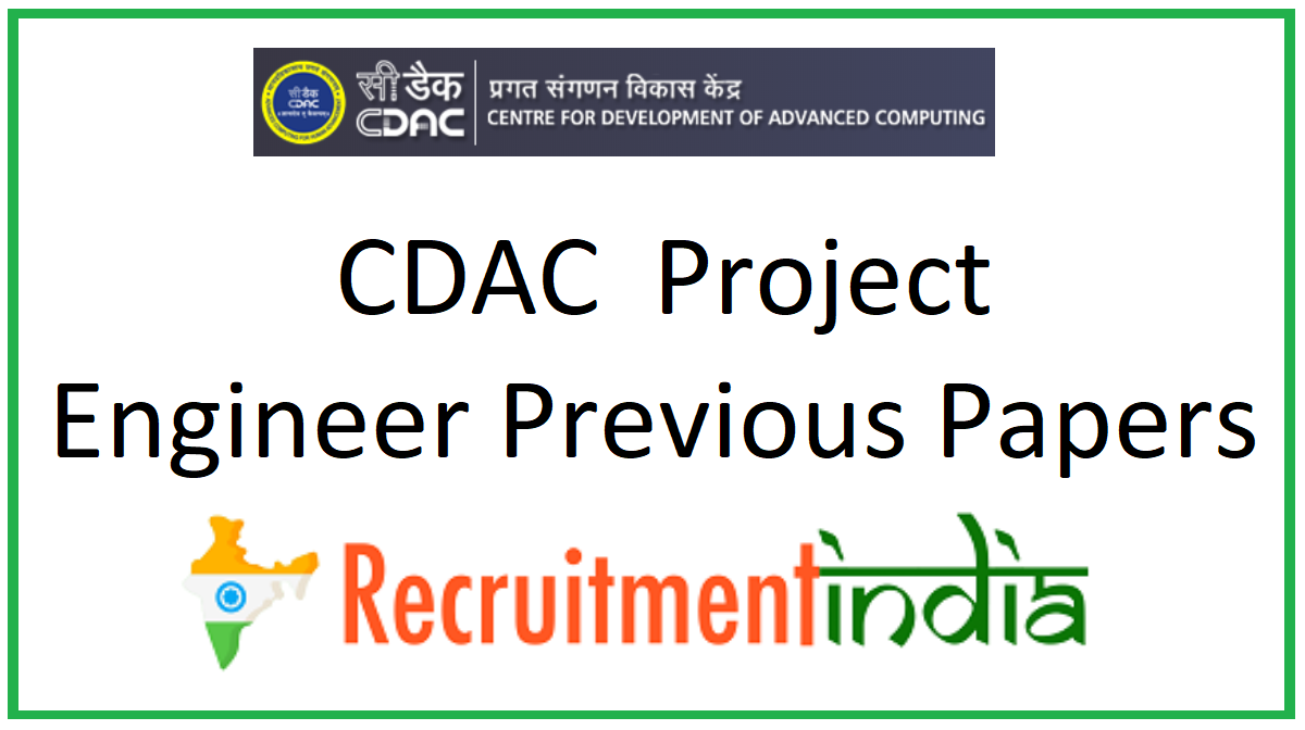CDAC Project Engineer Previous Papers