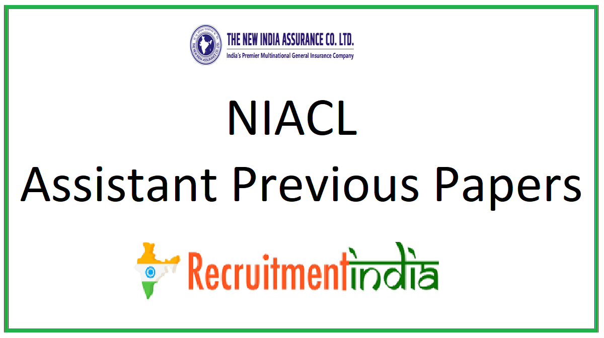 NIACL Assistant Previous Papers