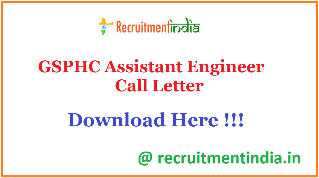 GSPHC Assistant Engineer Call Letter