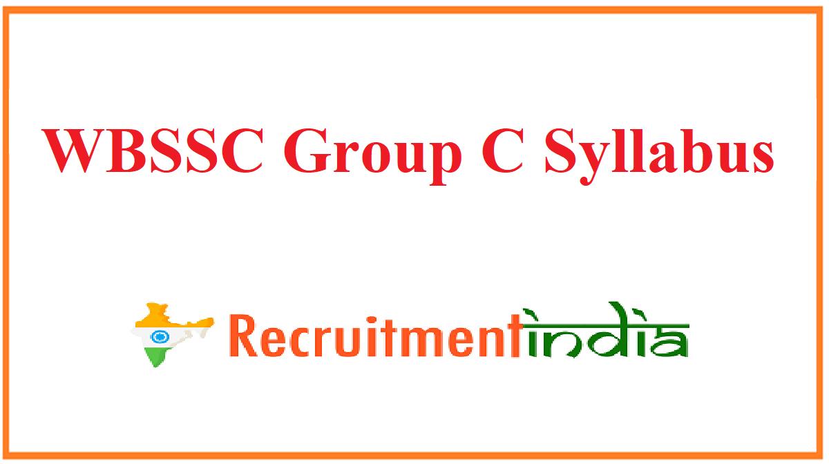 WBSSC Group C Syllabus