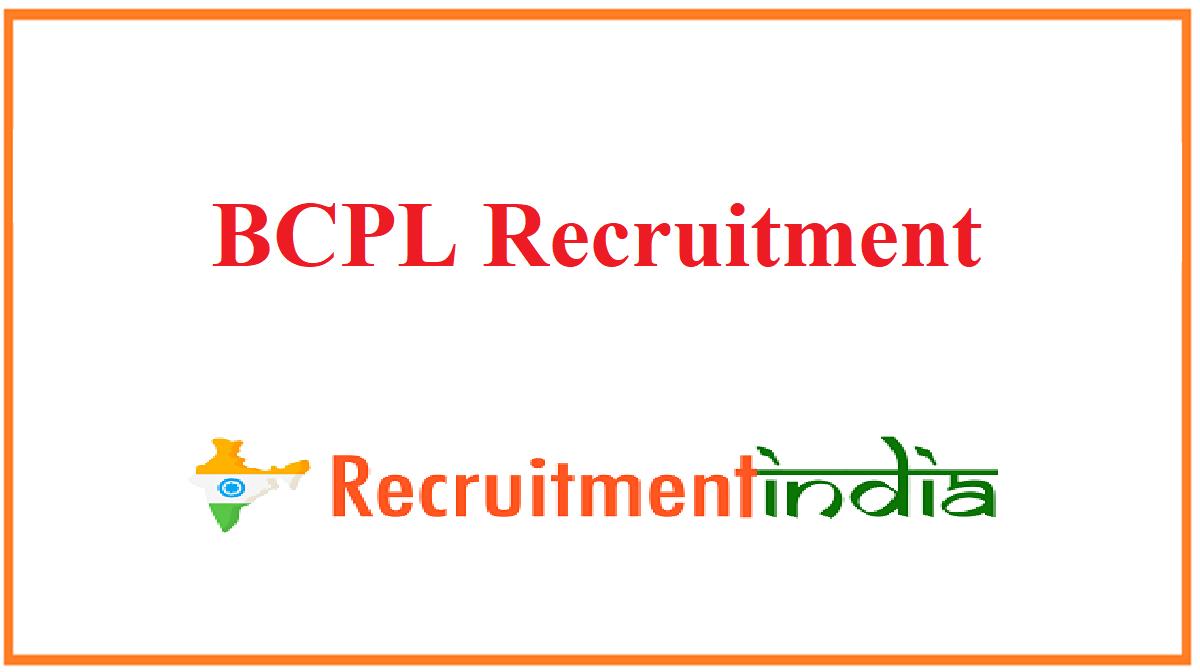 BCPL Recruitment