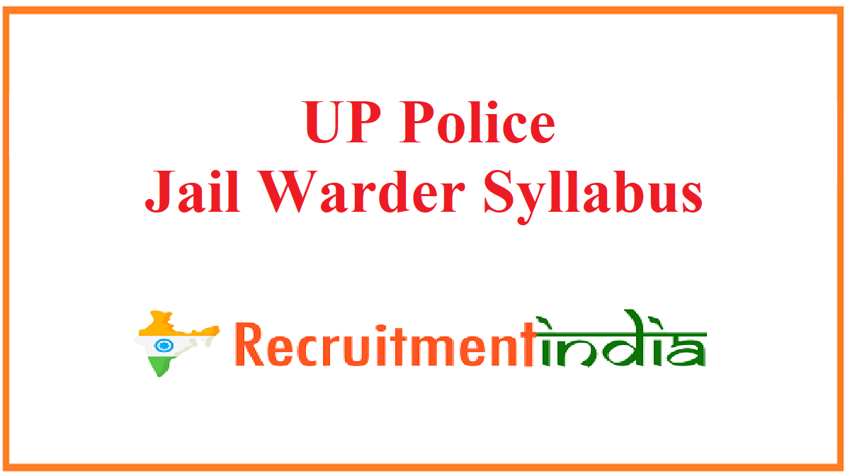 UP Police Jail Warder Syllabus