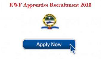 RWF Apprentice Recruitment 2018 | Apply 192 RWF Apprentice Vacancies @ rwf.indianrailways.gov.in