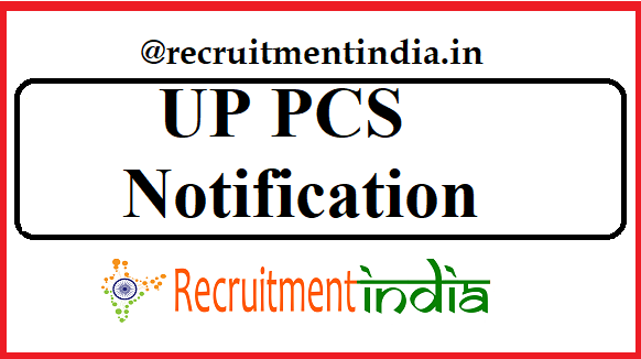 UP PCS Notification