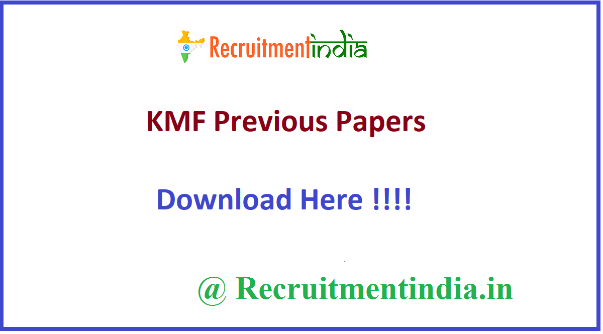 KMF Previous Papers