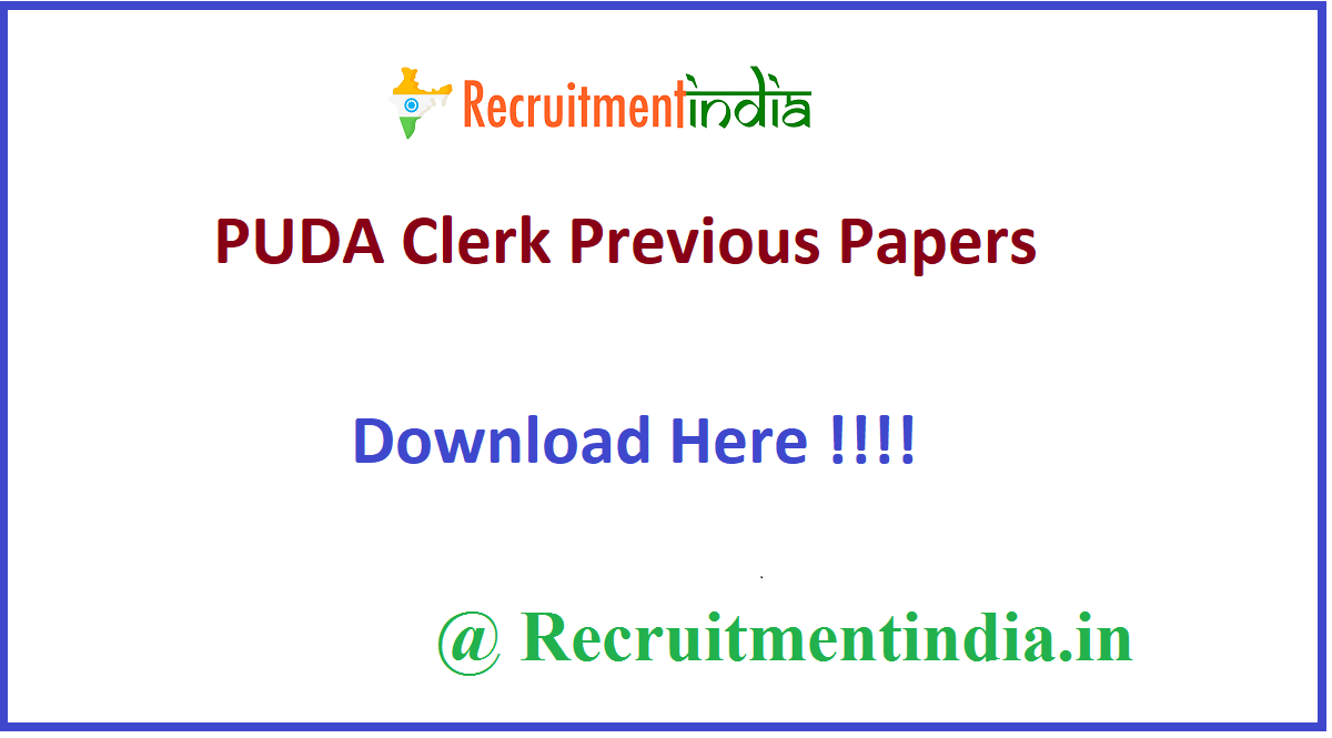 PUDA Clerk Previous Papers