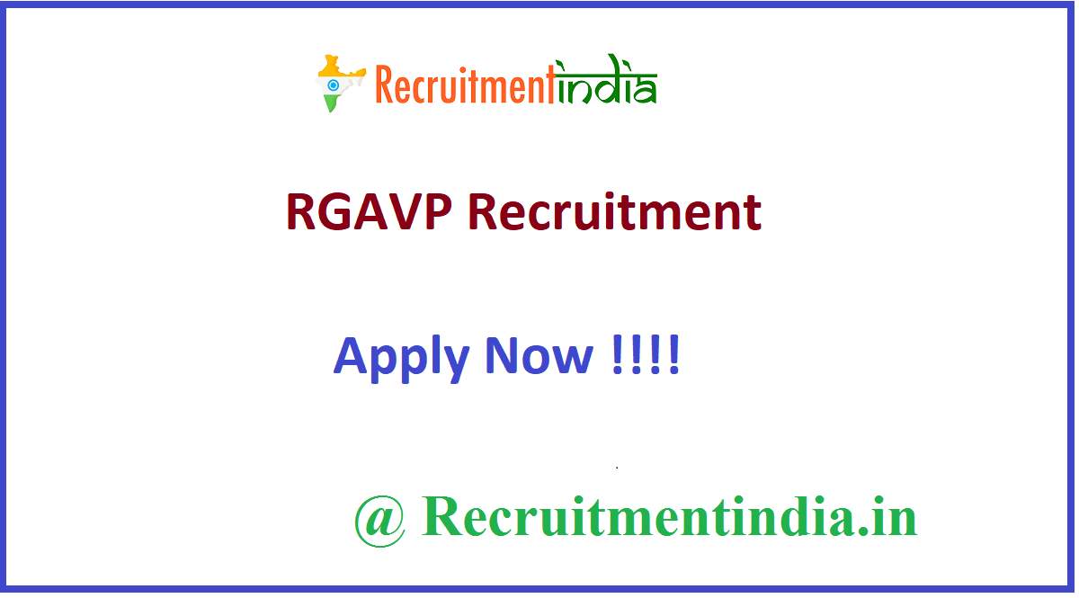 RGAVP Recruitment