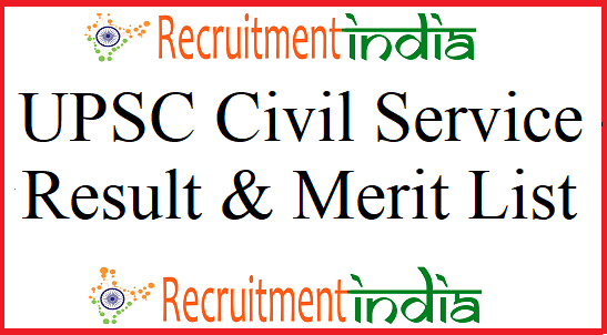 UPSC Civil Service Result