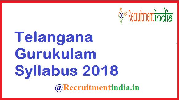 Telangana Gurukulam Syllabus 2018