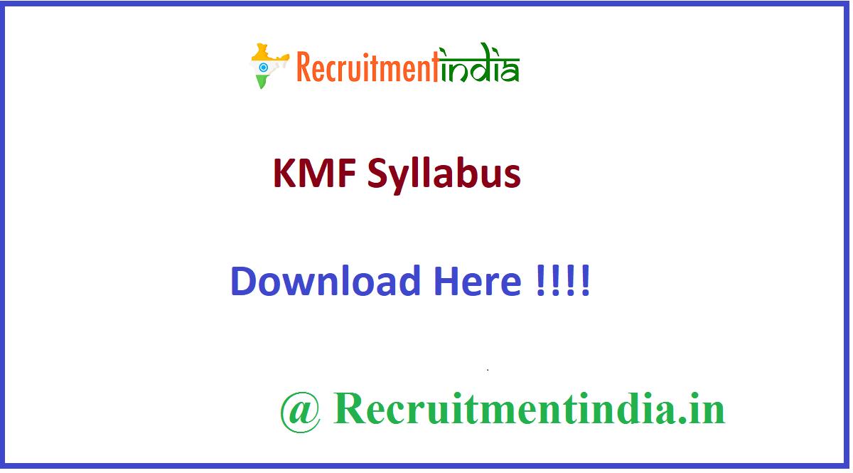 KMF Syllabus