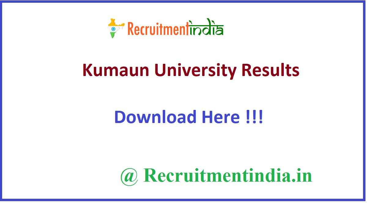 Kumaun University Results