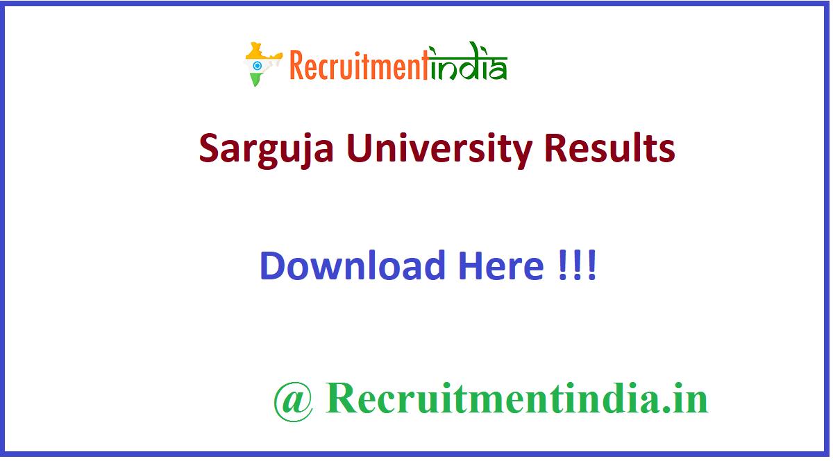 Sarguja University Results