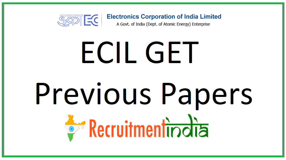 ECIL GET Previous Papers