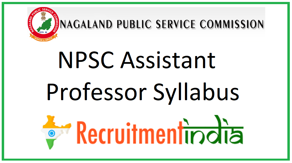 NPSC Assistant Professor Syllabus