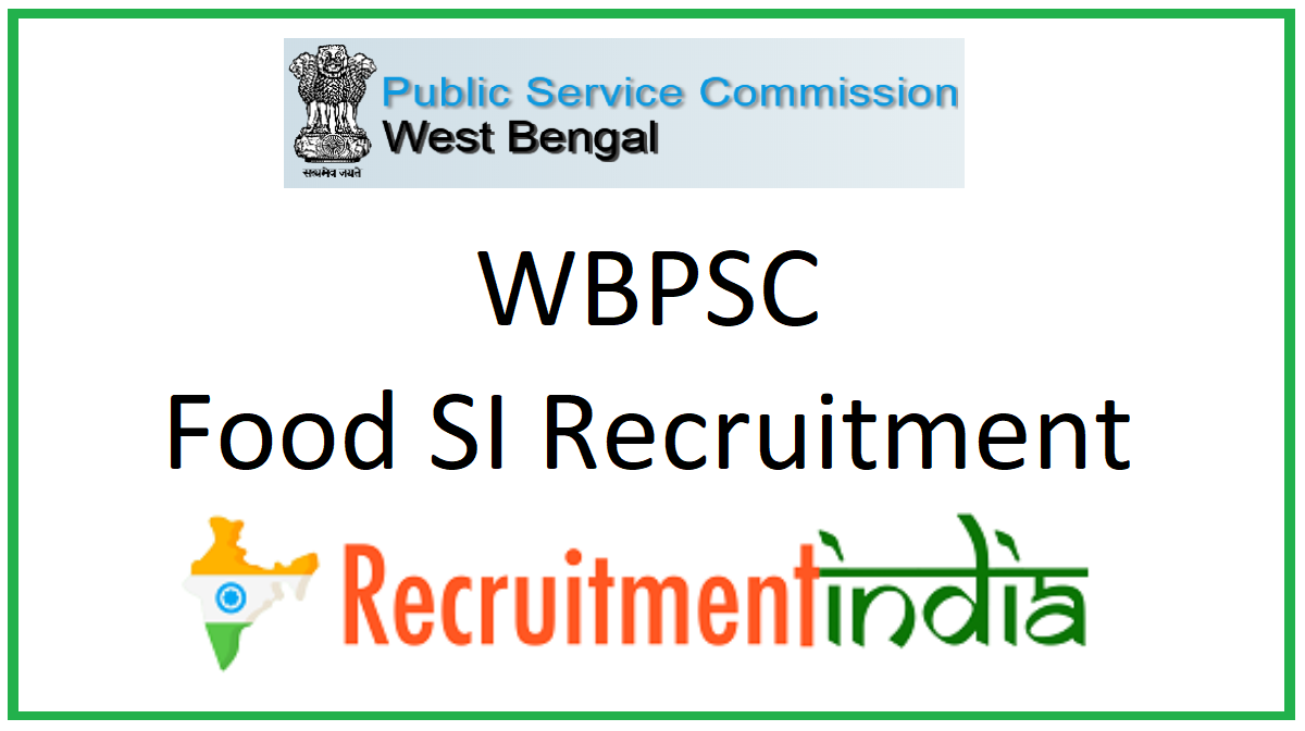 WBPSC Food SI Recruitment