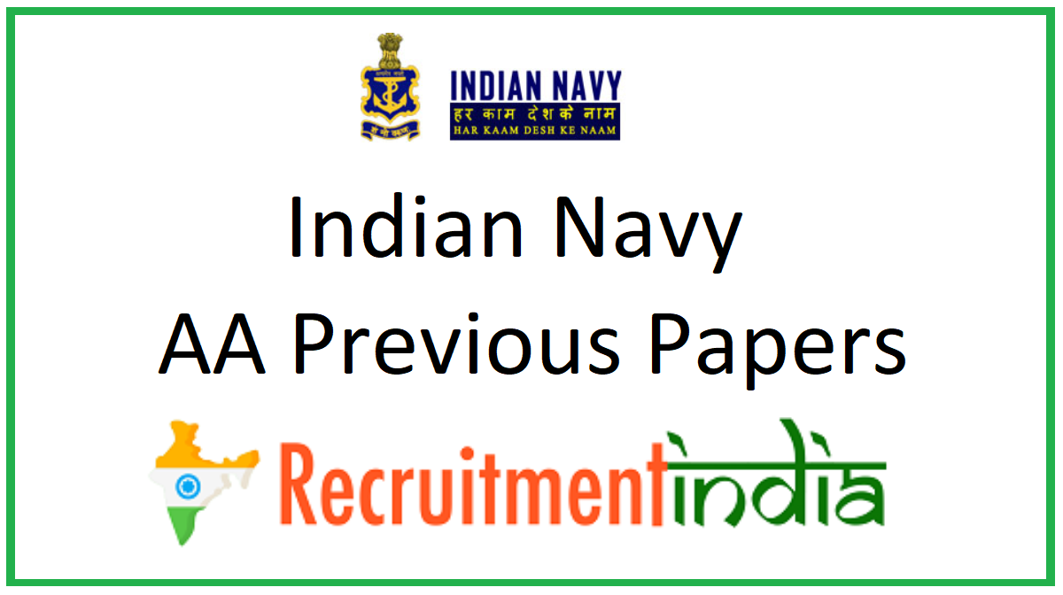 Indian Navy AA Previous Papers