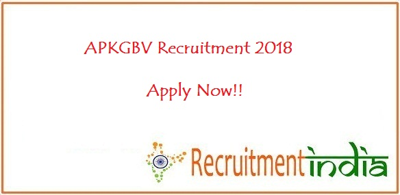 APKGBV Recruitment