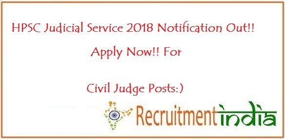 HPSC Judicial Service Notification