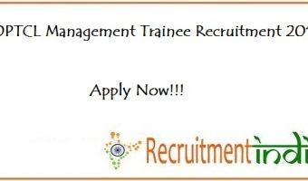 OPTCL Management Trainee Recruitment
