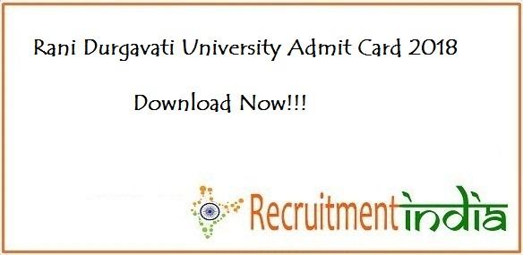 Rani Durgavati University Admit Card