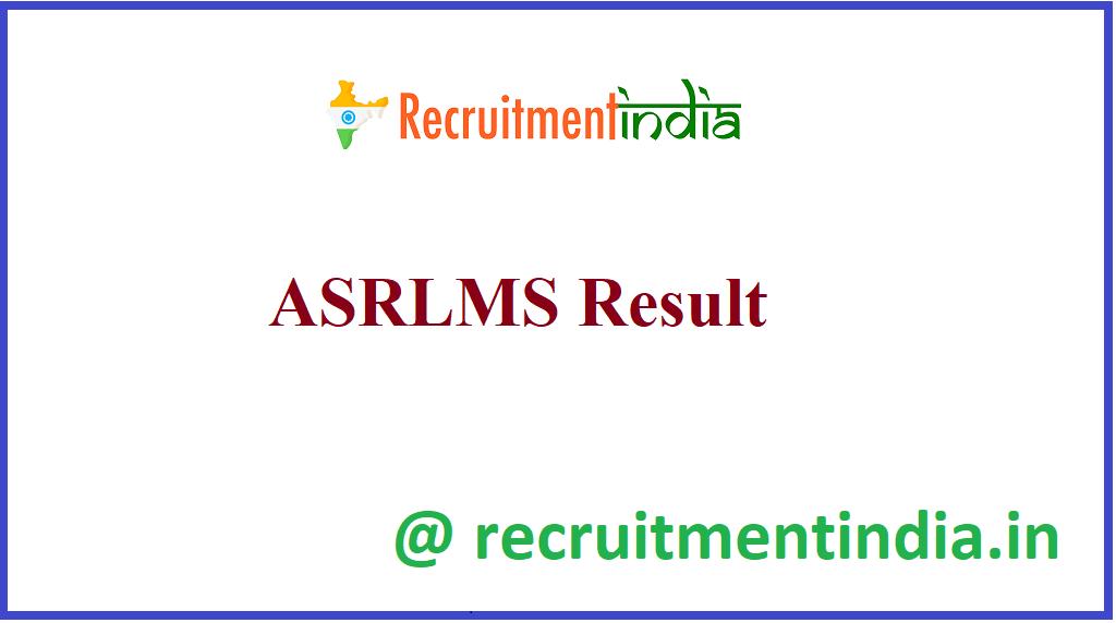 ASRLMS Result
