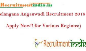 Telangana Anganwadi Recruitment