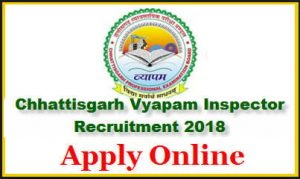CG Vyapam Assistant Inspector Recruitment