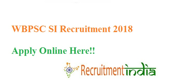 WBPSC SI Recruitment
