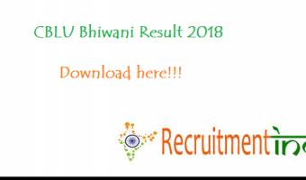 CBLU Bhiwani Result