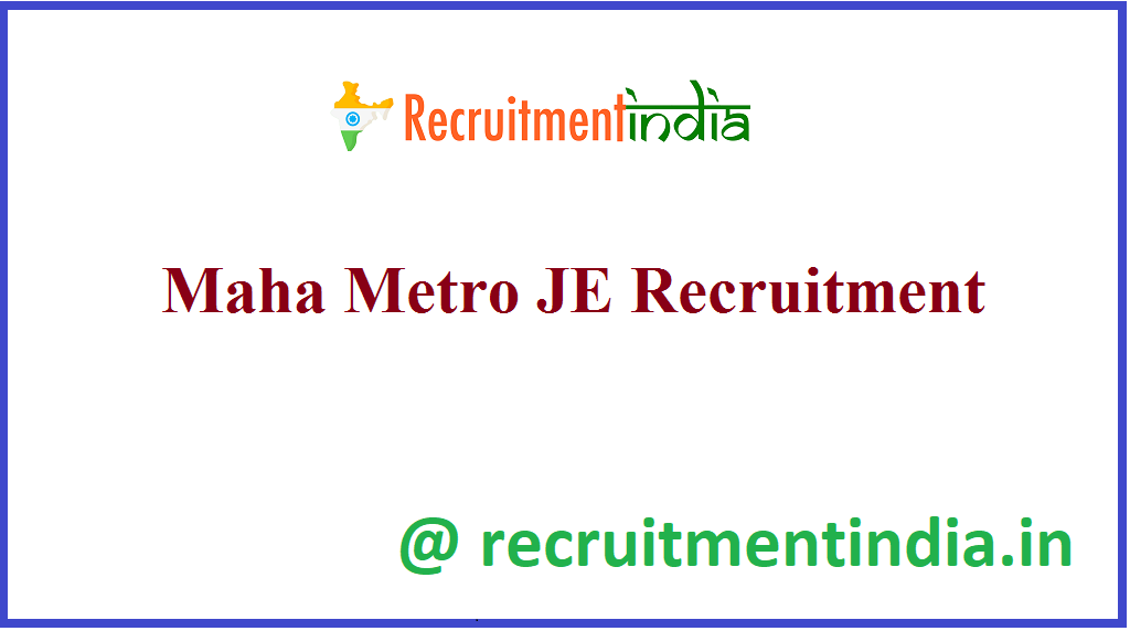 Maha Metro JE Recruitment