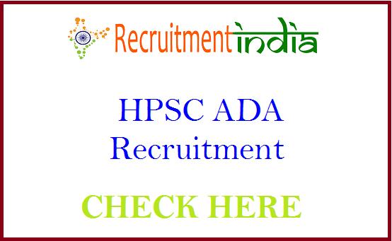 HPSC ADA Recruitment