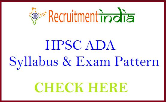 HPSC ADA Syllabus