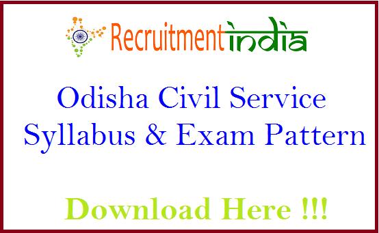 Odisha Civil Service Syllabus
