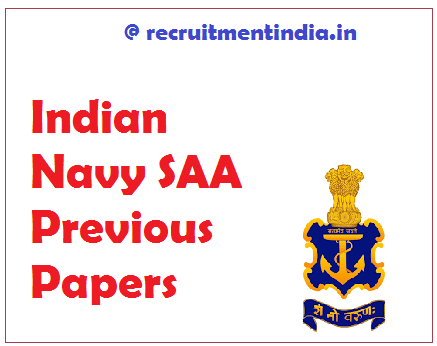 Indian Navy SAA Previous Papers