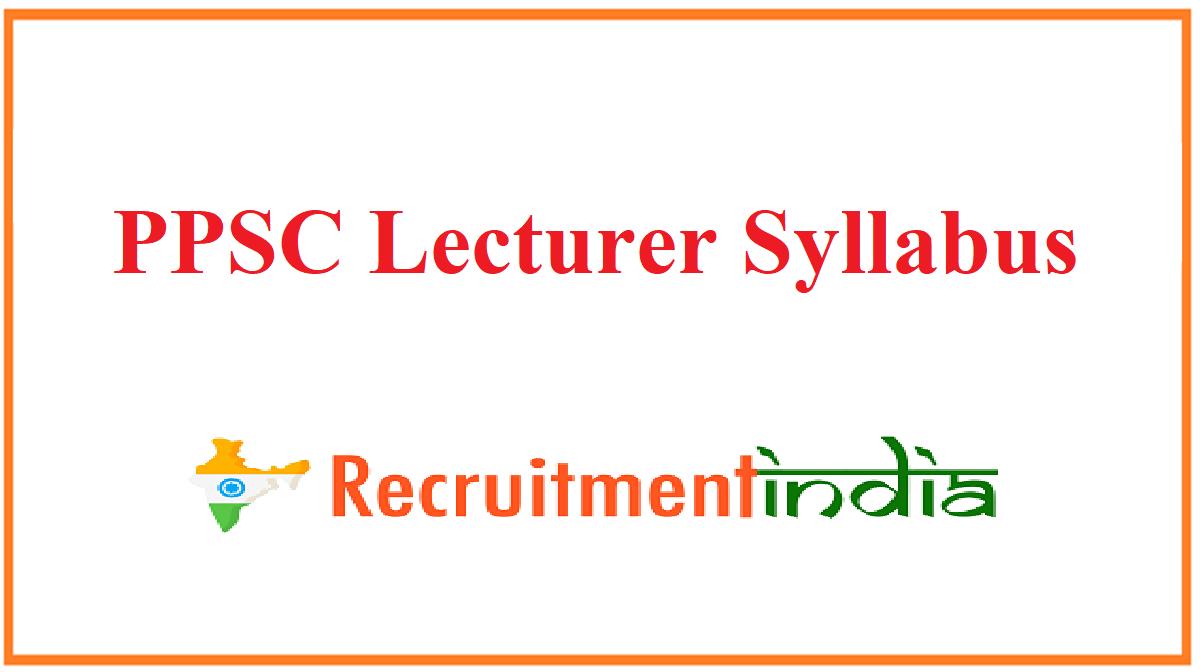PPSC Lecturer Syllabus
