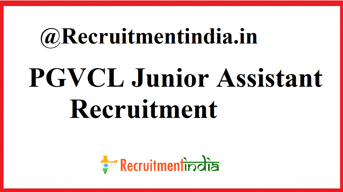 PGVCL Junior Assistant Recruitment