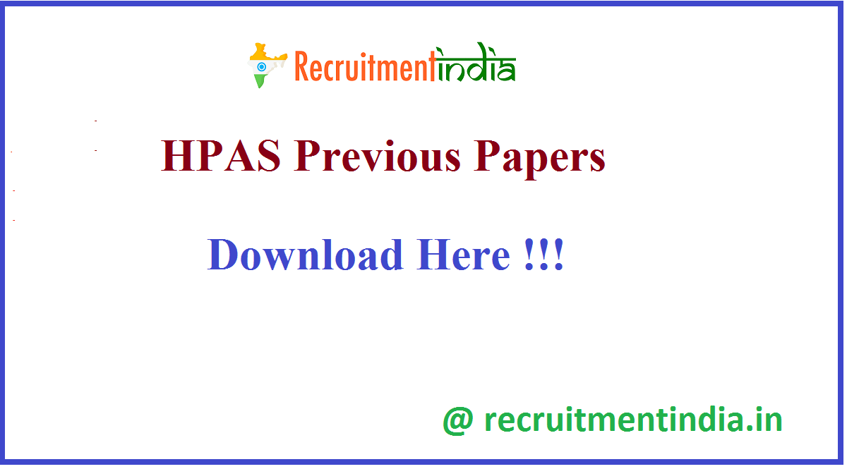 HPAS Previous Papers