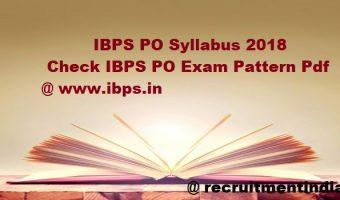 IBPS PO Syllabus 2018   Check IBPS CRP PO/ MT-VIII Exam Pattern Pdf @ www.ibps.in