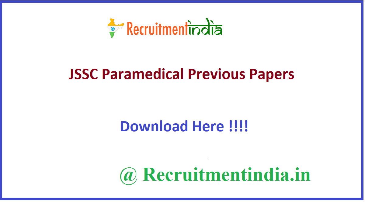JSSC Paramedical Previous Papers